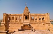 image of jain  - The famous Amarsagar temple the oldest Jain temple dedicated to Lord Parshawanath in Jaisalmer Rajasthan India - JPG