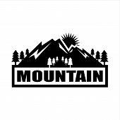 Save Download Preview Mountain Logo, Mountain Logo Vector, Hills Logo, Mountain Symbol, Mountain Ico poster