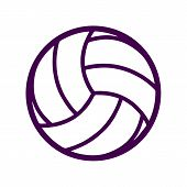 Volleyball Icon On White Background. Flat Style. Volleyball Icon For Your Web Site Design, Logo, App poster