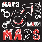 picture of ares  - doodle Mars symbol - JPG