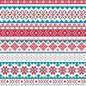 Fair Isle, Shtelands Knitwear Traditional Vector Seamless Design, Scottish Retro Design poster