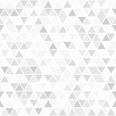 Geometric Pattern With Light Triangles. Geometric Modern Ornament. Seamless Abstract Background poster