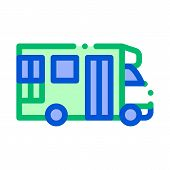 Public Transport Paratransit Vector Sign Icon Thin Line. Paratransit Mini Bus, Urban Passenger Trans poster