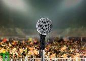 Постер, плакат: Микрофон в живой концерт