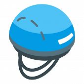 Hiking Helmet Icon. Isometric Of Hiking Helmet Vector Icon For Web Design Isolated On White Backgrou poster