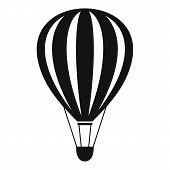Freedom Air Balloon Icon. Simple Illustration Of Freedom Air Balloon Vector Icon For Web Design Isol poster
