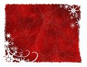Red And White Snowflakes & Swirls