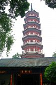Pagoda Of The Six Banyan Trees At Temple Of The Six Banyan Trees Is A Buddhist Pagoda First Built In poster