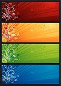 Постер, плакат: Современные цвета баннеры