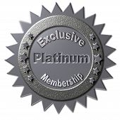foto of exclusive  - This platinum colored seal with similar stars declaring  - JPG