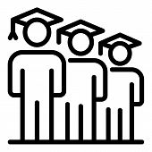 Graduated Student Icon. Outline Graduated Student Vector Icon For Web Design Isolated On White Backg poster