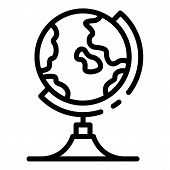 Geography Globe Icon. Outline Geography Globe Vector Icon For Web Design Isolated On White Backgroun poster