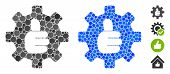 Gear Thumb Ok Mosaic Of Circle Elements In Different Sizes And Color Tones, Based On Gear Thumb Ok I poster