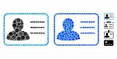 Account Card Mosaic Of Round Dots In Various Sizes And Shades, Based On Account Card Icon. Vector Ro poster