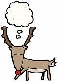 pic of rudolf  - funny cartoon reindeer - JPG