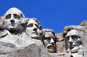 foto of abraham  - Mount Rushmore National Memorial in South Dakota features sculptures of former U - JPG