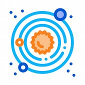 Solar System Milky Way Icon Vector. Outline Solar System Milky Way Sign. Isolated Contour Symbol Ill poster