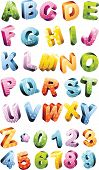 image of blunt  - Colorful alphabet set - JPG