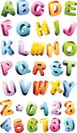 picture of alphabet letters  - Colorful alphabet set - JPG