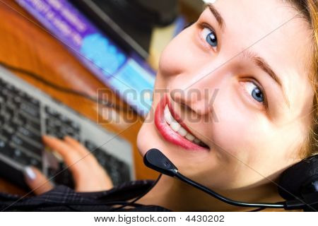 beautiful Customer Service weiblich worker