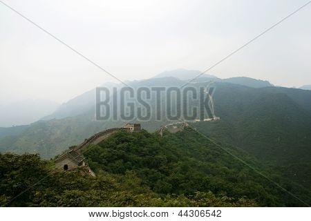 Great wall in Mutianyu, China