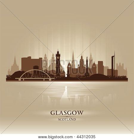 Glasgow Scotland Skyline City Silhouette