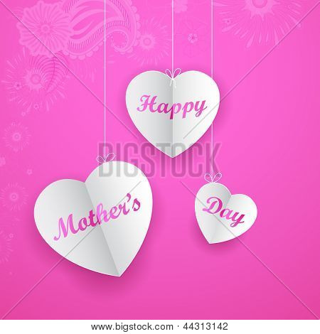 illustration of Happy Mother's Day on hanging heart