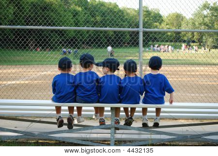 Baseball Team On Bench