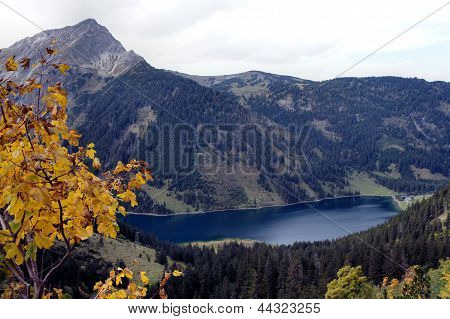 The Vilsalpsee in the Tannheim Valley