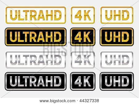 UltraHD labels