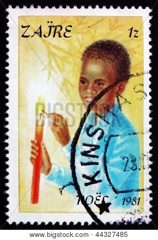 Postage Stamp Zaire 1981 Boyl, Christmas