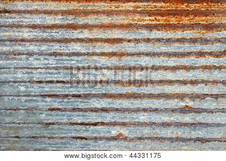 Ribbed Metal Plate With Shelled Paint