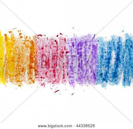bunte Textur Pastell Stick Staub auf weißem Papier