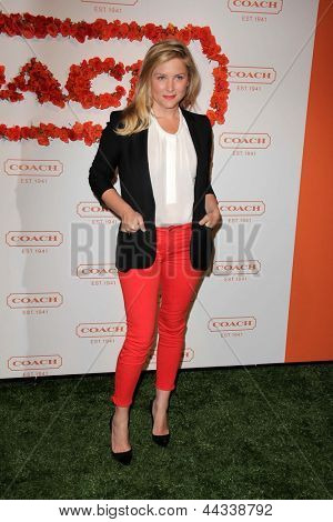 LOS ANGELES - APR 10:  Jessica Capshaw arrives at the Coach's 3rd Annual Evening of Cocktails and Shopping at the Bad Robot on April 10, 2013 in Santa Monica, CA