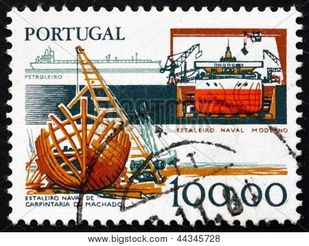 Postage Stamp Portugal 1978 Shipbuilding Industry