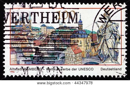 Postage Stamp Germany 1996 Bamberg, Town In Bavaria