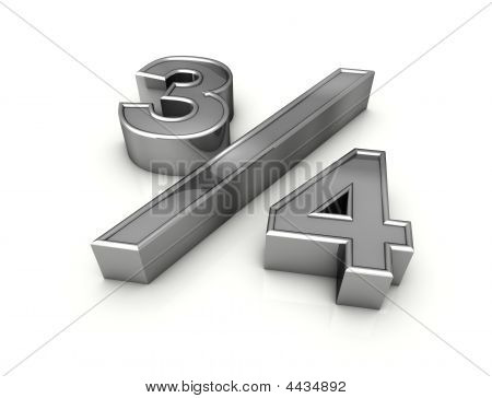 Fraction Three Quarters