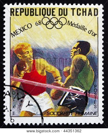 Postage Stamp Chad 1969 Manfred Wolke, Boxing
