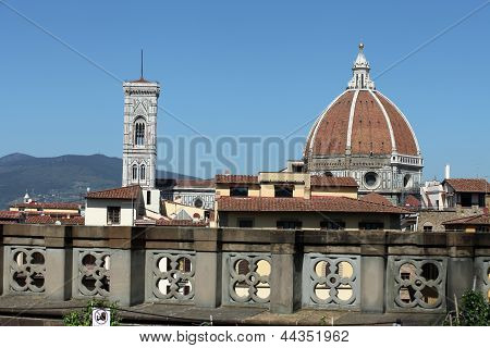 Florence - the view from the balcony of the Gallery Uffizi