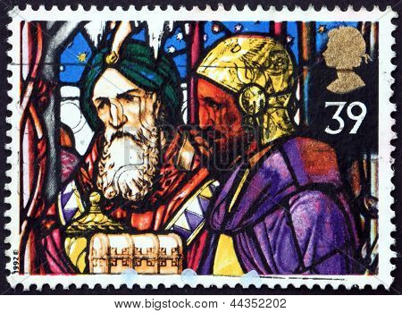 Postage Stamp Gb 1992 Kings Offering Frankincense And Myrrh