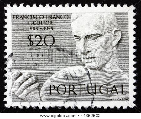 Postage Stamp Portugal 1971 Francisco Franco, Portuguese Sculptor