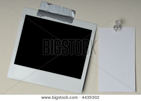 Instant Photo And Blank Card