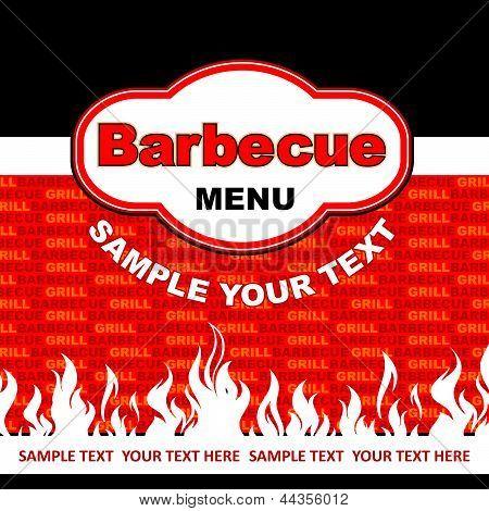 Barbecue menu card design.