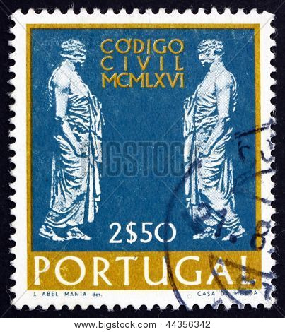 Postage Stamp Portugal 1967 Statues Of Roman Senators