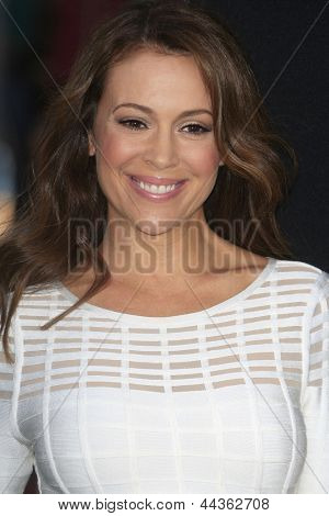 LOS ANGELES - APR 9: Alyssa Milano at the Los Angeles Premiere of '42' at TCL Chinese Theater on April 9, 2013 in Los Angeles, California