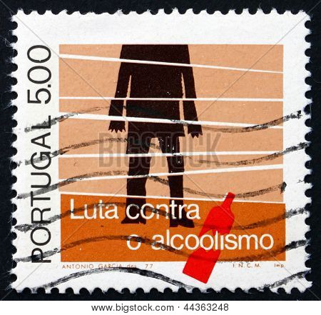 Postage Stamp Portugal 1977 Alcoholic And Bottle