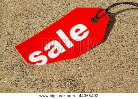 Sale Tag Summer Concept