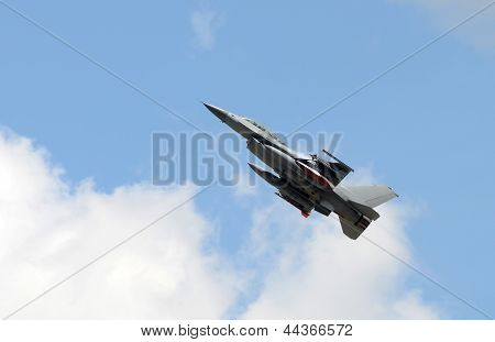 Modern Fighter Jet Taking Off