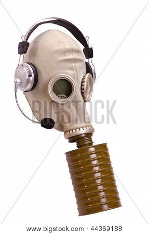 Gas Mask With Stereoear-phones