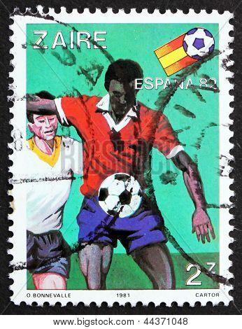 Postage Stamp Zaire 1981 Soccer Scene